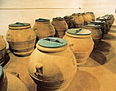 Clay Urns For Storing Olive Oil