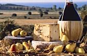 Italian Pecorino Cheese with Pears and Chianti