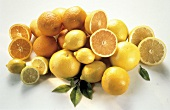 Assorted Citrus Fruit in a Pile