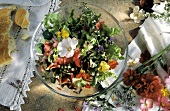Colorful Summer Salad with Edible Flowers