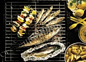 Sardines and Mackerel; Herring on the Grill