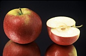 Whole and Half of an Apple