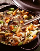 Bunter Gemüseeintopf mit Fleisch