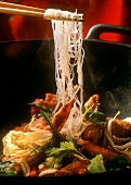 Duck Wok Dish with Vegetables and Cellophane Noodles