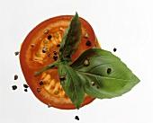 Tomato Slice; Basil