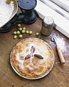 Irish gooseberry pie