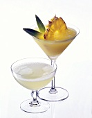 Pineapple daiquiri and original daiquiri