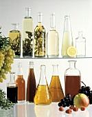 Several Assorted Vinegars in Bottles