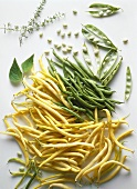 Several Wax Beans and Green Beans