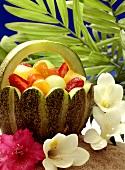 Fruit Salad in a Watermelon Basket