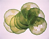 Several Cucumber Slices