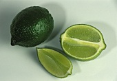 Whole Lime; Half Lime and Lime Wedge