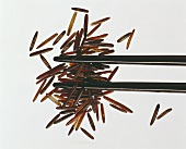 Wild Rice with Chopsticks