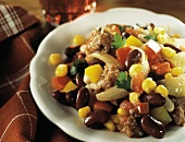 Ground Meat with Beans and Vegetables