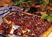 Tray-baked plum cake
