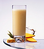 Exotic fruit milk shake with pineapple, mango & coconut