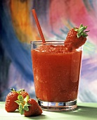Frozen Strawberry Smoothie with Fresh Strawberries