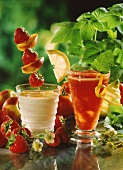 Advocaat milk shake and Tomato (tomato & grapefruit drink)