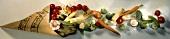 Assorted Vegetables Spilt From a Paper Bag