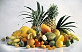 Still Life of a Pile of Assorted Tropical Fruit