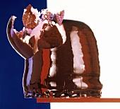 Piece of Chocolate Covered Cream Cake