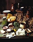 Rustic Cheese Still Life