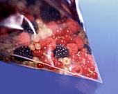 Various berries in plastic bag