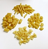 Four Different Types of Pasta