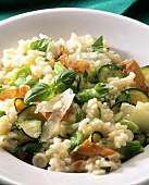 Risotto italiano (risotto with courgettes, ham & Parmesan)