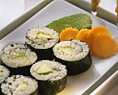 Sushi roll with avocado