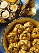 Baklava (filo pastry with syrup and nut filling)