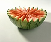 A Decoratively Carved Watermelon