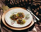 Mini-Kartoffel-Rösti mit Matjestatar