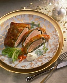 Salmon Fillet in a Puff Pastry Shell