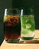Cuba libre and Mojita (long drinks from Cuba)