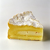 A Single Wedge of Camembert Cheese