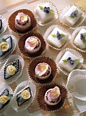 Petit Fours in Paper Cups