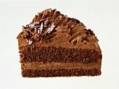 Piece of a chocolate gateau