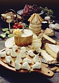 Cheese buffet: soft cheese pears, cheese tower & cheeses