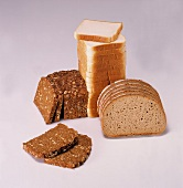 Wholemeal sunflower bread, mixed grain bread & toasting bread