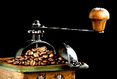 Coffee Mill with Whole Beans