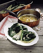 Bietole alla romana (Swiss chard with garlic & lemon oil)