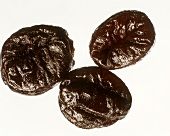 Three prunes (dried plums)