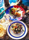 Matje herring salad & fillet, mustard & vegetable sauce & salad