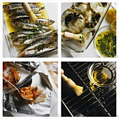 Preparing fish and seafood for grilling