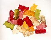 A heap of coloured gummi bears