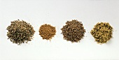 Caraway (whole and ground) and cumin (whole and ground)