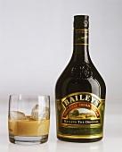 Baileys in Flasche & mit Eis im Whiskeytumbler