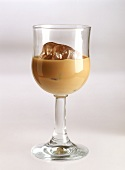 Baileys with ice in liqueur glass