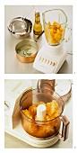 Preparing melon sorbet